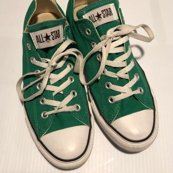 Converse Shoes - Converse Chuck Taylors Green and White 12db3ab3ee51